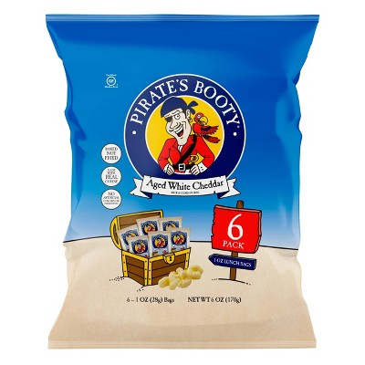 Pirate's Booty Aged White Cheddar Puffs - 6ct - 1oz