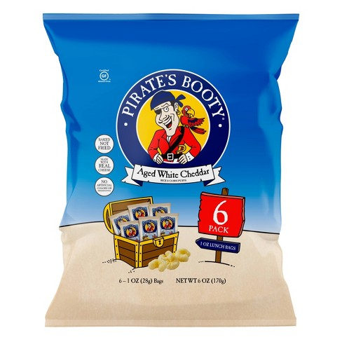 Pirate's Booty Aged White Cheddar Puffs - 6ct - 1oz - image 1 of 3
