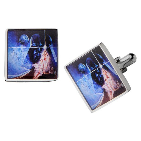 Men's Star Wars Poster Relief Graphic Stainless Steel Square Cufflinks - image 1 of 1