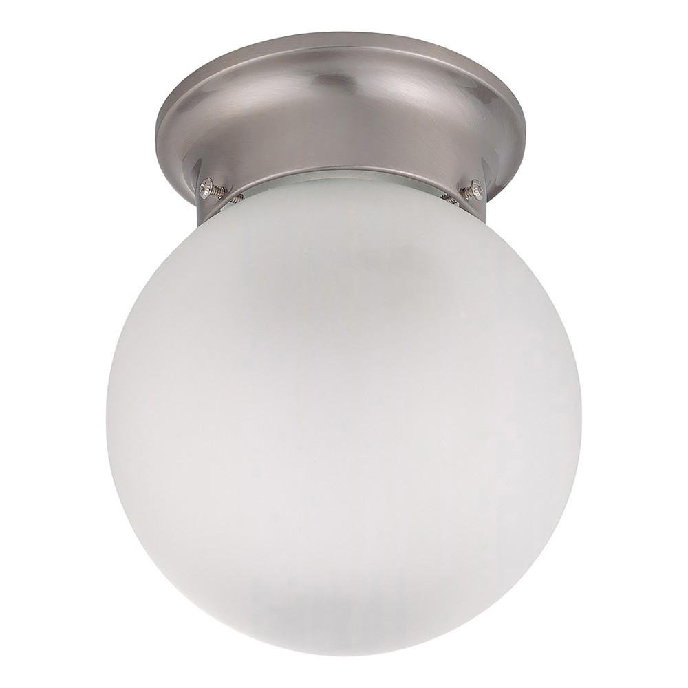 Image of 6 Frosted Glass White Ceiling Mount - Z-Lite