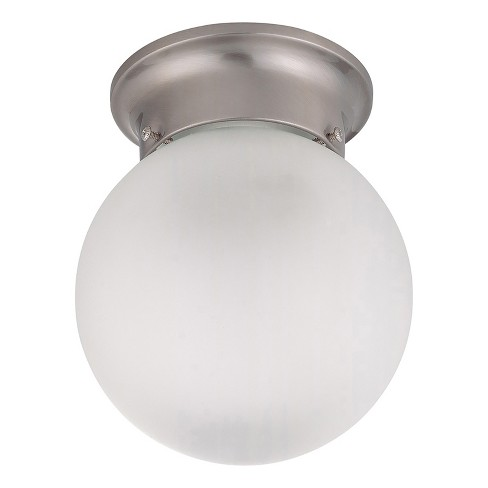 "6"" Frosted Glass White Ceiling Mount - Z-Lite - image 1 of 1"