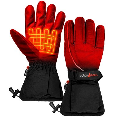 ActionHeat AA Battery Heated Men's Snow Gloves - Black
