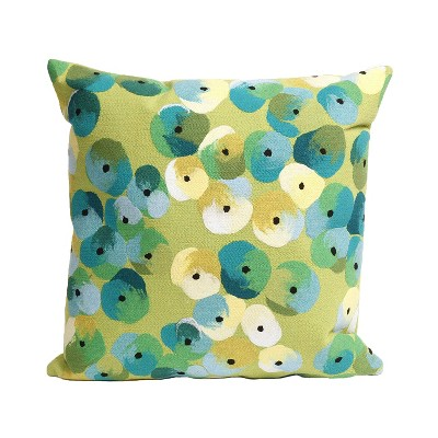Liora Manne Visions 20 x 20 In II Polyester Indoor Outdoor Patio Accent Handcrafted Pillow for Living Room Sofa Couch, Porch Swing, and Beds, Pansy