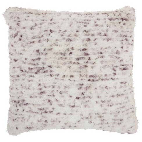 "24""x24"" Life Styles Sprinkle Micro Shag Throw Pillow Lavender - Mina Victory - image 1 of 4"