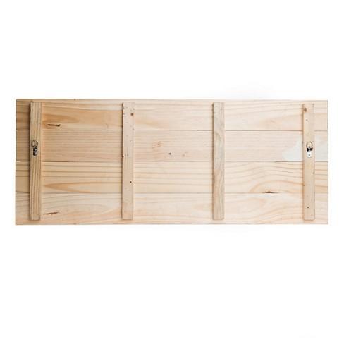 16 X40 Distressed Gather Wood Plank Wall Art White Patton Wall Decor