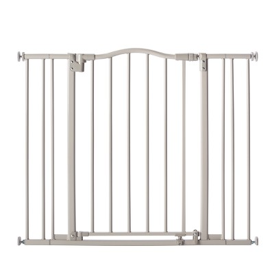 "Toddleroo By North States Arched Auto Close Baby Gate Gray - 28.25"" - 38.25"" Wide"