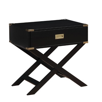 Genial Iohomes Danner Contemporary Gold Corner Accent Side Table