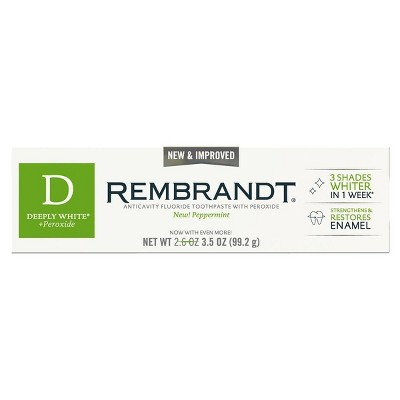 Rembrandt Deeply White & Peroxide Whitening Toothpaste - Peppermint