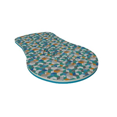 Floatation iQ Floating Ventilated UV Resistant Foam Swimming Pool Lounge Chair w/ Multicolored 3D Cube Pattern, For 1 Youth or Adult