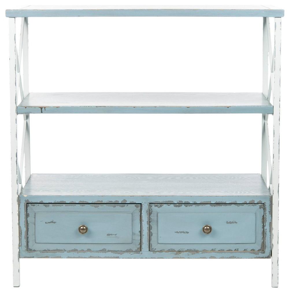Chandra Console Table - Blue/White - Safavieh