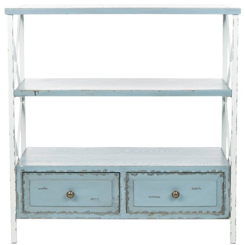 Chandra Console Table - Blue/White - Safavieh - image 1 of 3