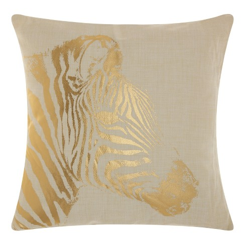 Light Gold Zebra Stripe Throw Pillow - Mina Victory - image 1 of 2