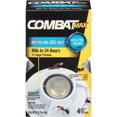 Combat Max Ant Killing Gel Bait Station - 4ct