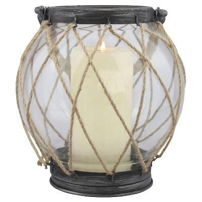 8.2  Stonebriar Vintage Globe Candle Holder Lantern - CKK Home Decor