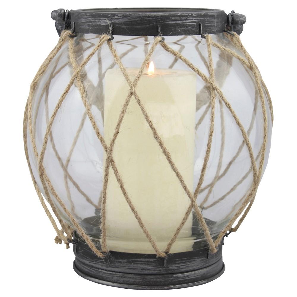 "Image of ""8.2"""" Stonebriar Vintage Globe Candle Holder Lantern - CKK Home Decor"""