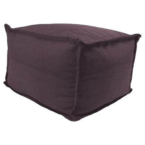 Outdoor Bean Filled Pouf/Ottoman In Sunbrella Spotlight Wisteria - Jordan Manufacturing - image 1 of 1