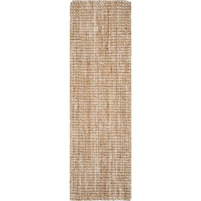2'6 X14' Solid Woven Runner Light Gray - Safavieh
