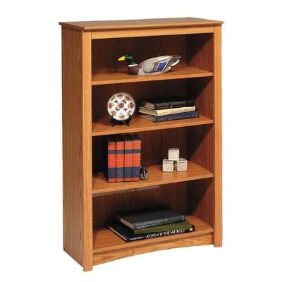 """48"""" 4 Shelf Bookshelf Oak - Prepac"""