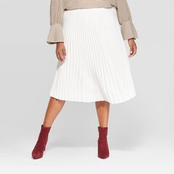 Women's Plus Size High-Rise Pleated Skirt - A New Day™