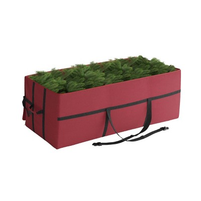 Elf Stor 9' Heavy Duty Canvas Christmas Tree Storage Bag Large Red