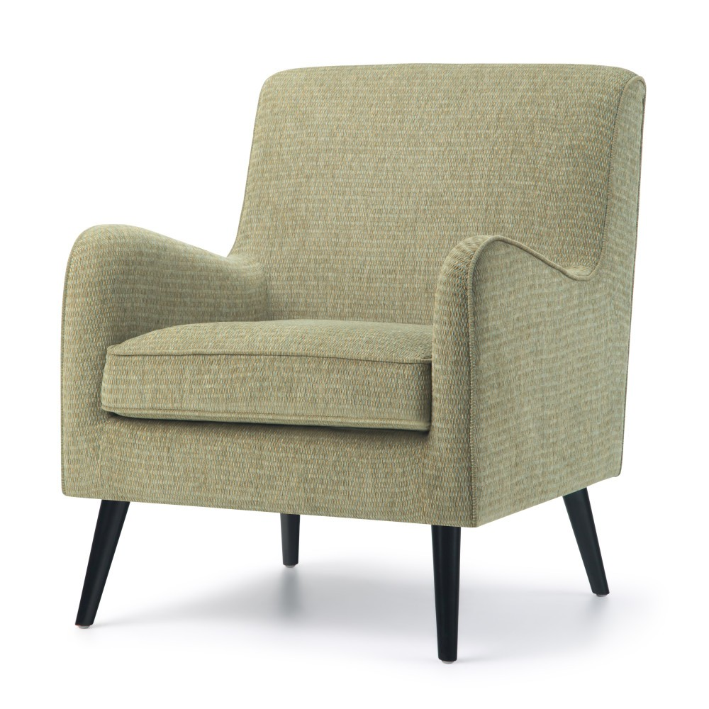 Stanley Mid Century Arm Chair Pear Green Fabric - Wyndenhall