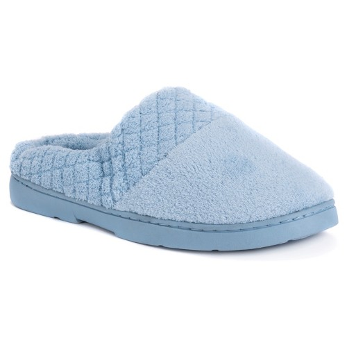Women's MUK LUKS Chenille Clogs - Blue L(9-10), Size: Large (9-10)