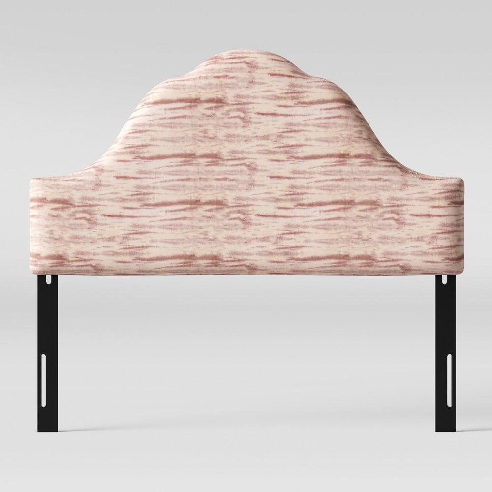 Queen Zinnia Arched Headboard Pink Velvet - Opalhouse
