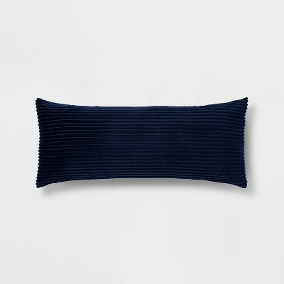 Solid Ribbed Body Pillow Cover Navy - Room Essentials™