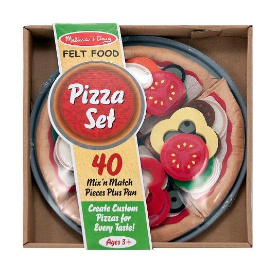 Melissa & Doug Felt Food Mix 'n Match Pizza Play Food Set (40pc) image number null