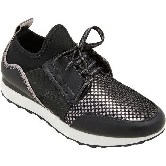 Women's Deena Lace Up Sneakers - A New Day™ Black 6.5