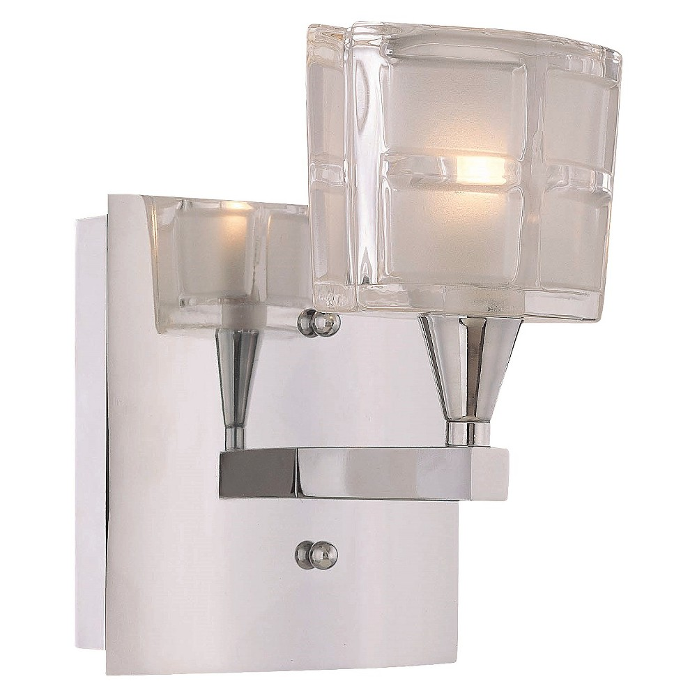 Lite Source Halogen Bulb Wall Light - Silver