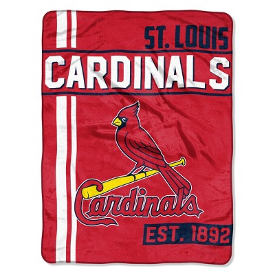 MLB St. Louis Cardinals Micro Fleece Throw Blanket