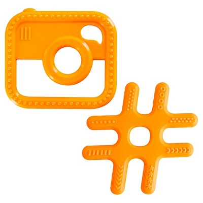 Ulubulu ® 2 pk Hashtag & Camera Teether Bundle - 3+ Months
