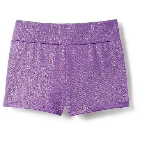 Freestyle by Danskin Girls' Activewear Shorts - Purple S - image 1 of 2