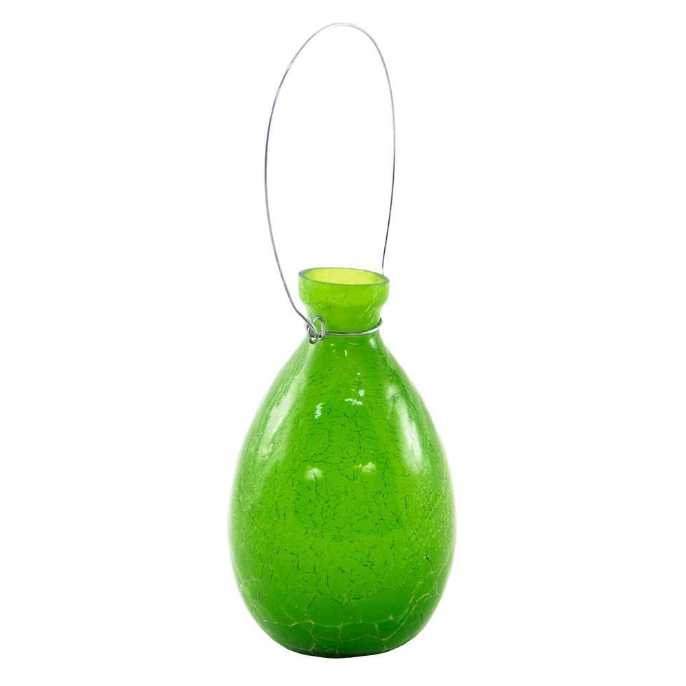 7 34 Hanging Glass Teardrop Rooting Vase Fern Green Achla Designs