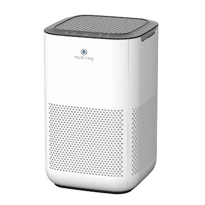 Medify Air MA-15-W1 Compact Home Air Purifier with Dual H13 True HEPA Filter Removes 0.10 Micron Dust Pollen Particles, White