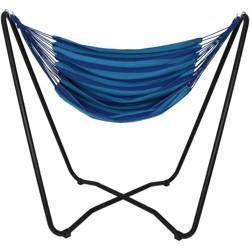 Hammock Chair Swing and Stand Set - Beach Oasis - Sunnydaze Decor