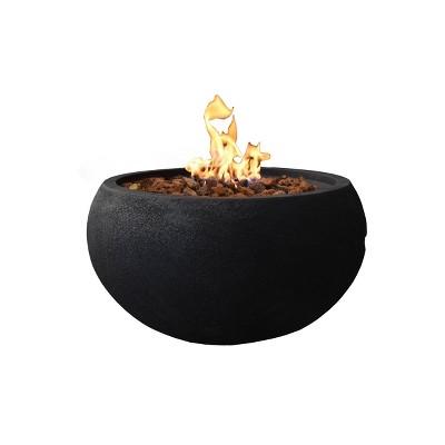 "York 27"" Outdoor Fire Pit Propane Table Backyard Patio Heater - Elementi"