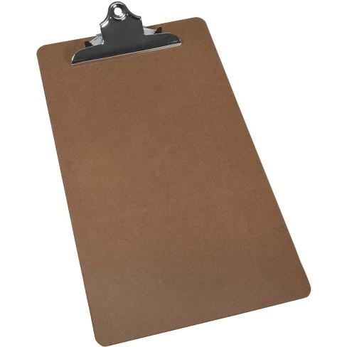 School Smart Legal Clipboard, 9 X 15-1/2 in, 1/8 in T, Hardboard, Brown, Bright Nickel - image 1 of 2