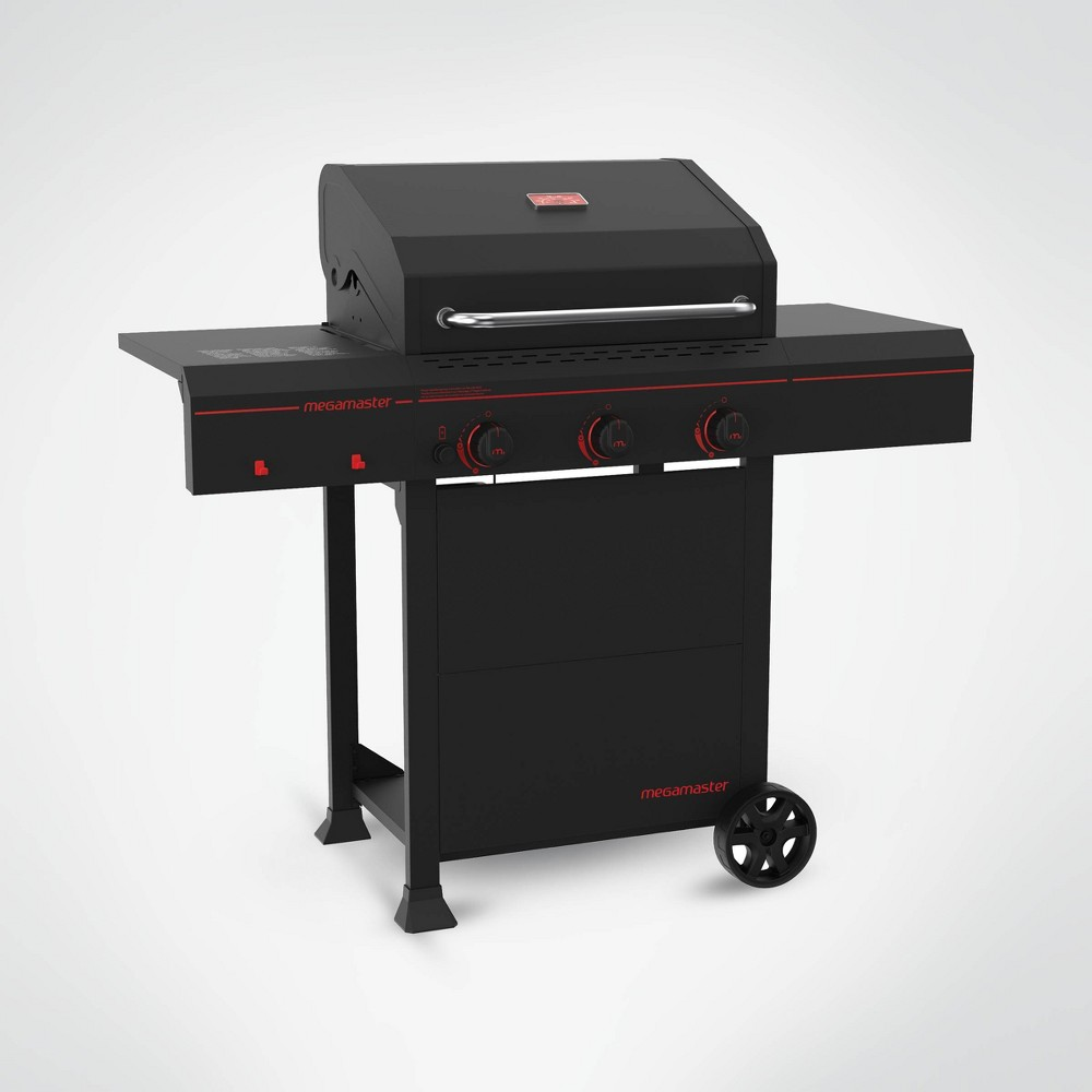 Megamaster 3-Burner Gas Grill 720-0804 – Black 54357597