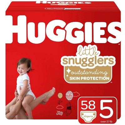 Huggies Little Snugglers Diapers - Size 5 (58ct)
