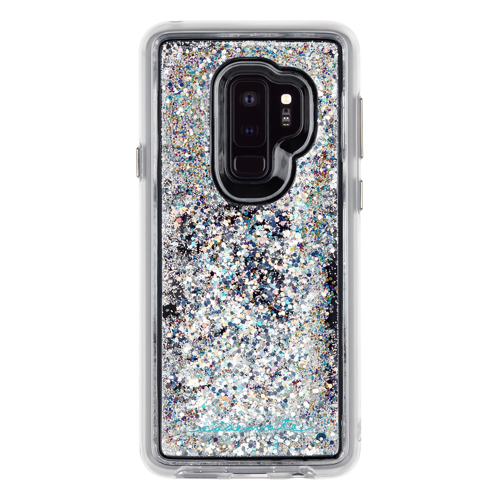 Case-Mate Samsung Galaxy S9 Plus Case Waterfall - Iridescent, Clear Behold the leading fashion case on the market! The dynamic snow globe effect of this Waterfall case will captivate you with its cascading sparkle and tumbling glitter. Offering enhanced protection and refined metallic button accents, this case has all the right moves. Color: Clear. Pattern: Solid.