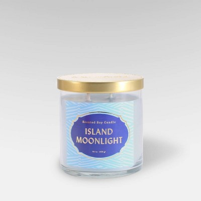 15.1oz Lidded Glass Jar 2-Wick Candle Island Moonlight - Opalhouse™