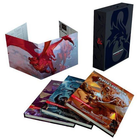 Dungeons & Dragons Core Rulebooks Gift Set (Special Foil Covers Edition with Slipcase, Player's Handbook, Dungeon Master's Guide, Monster Manual, DM - image 1 of 1