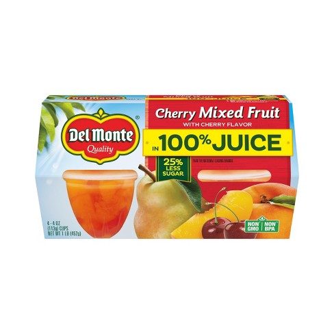 Del Monte Cherry Mixed Fruit Cups - 4ct - image 1 of 1