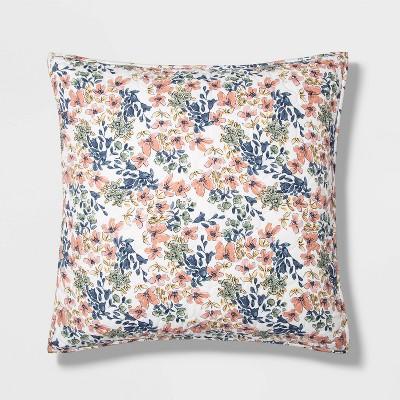 Floral Printed Family Friendly Quilt Sham Warm - Threshold™