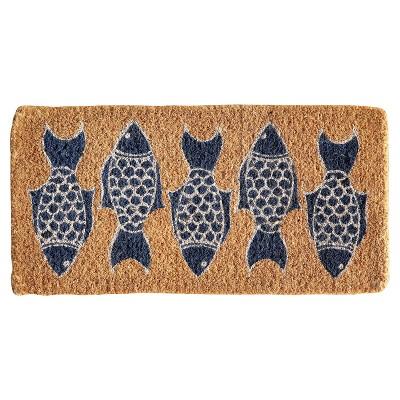 Natural Coir Fish Doormat (2'x3')- 3R Studios