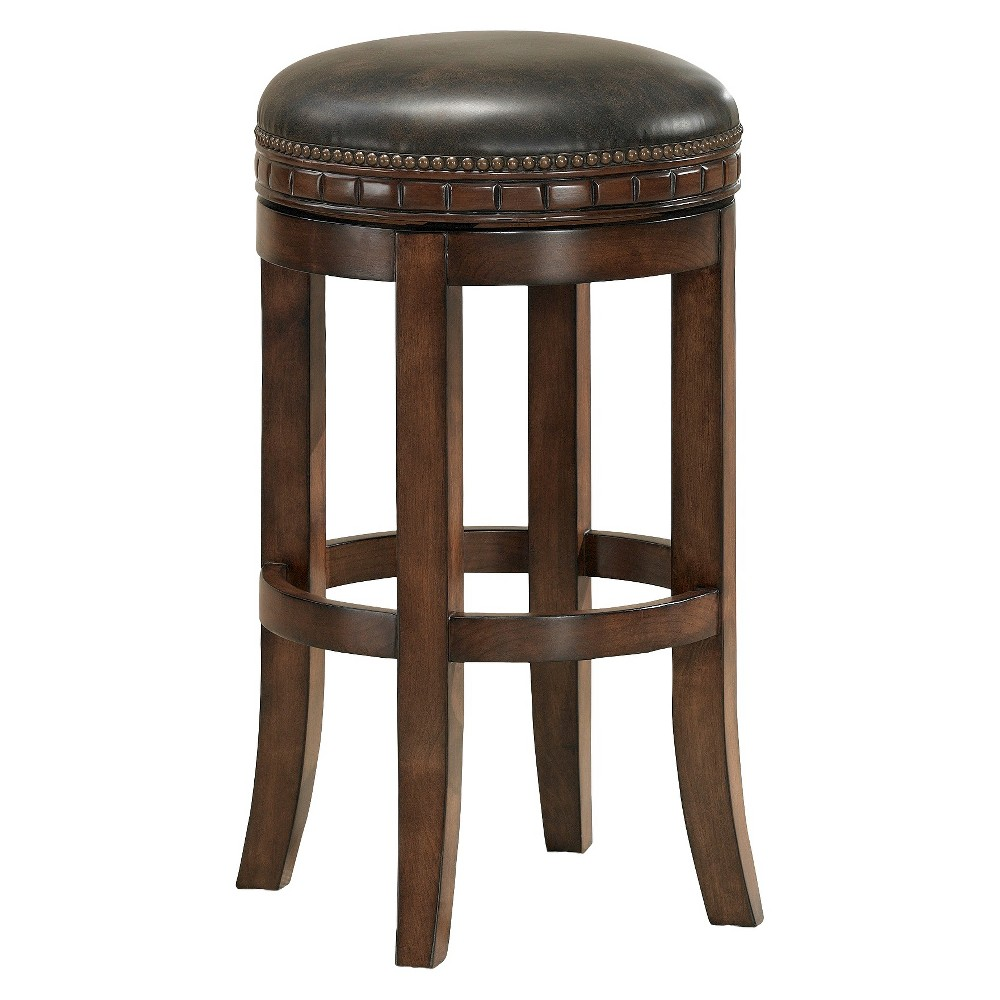 "Image of ""26"""" Sonoma Bonded Leather Cushion Counter Stool Tobacco - American Heritage Billiards"""