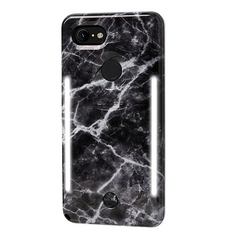 info for 9130d efd70 LuMee Google Pixel 3 XL Duo Marble Case - Black