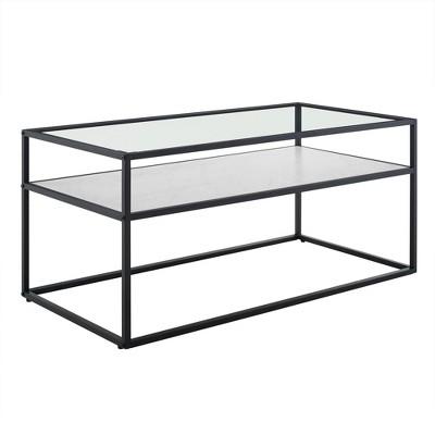 Modern Reversible Shelf Coffee Table  - Saracina Home